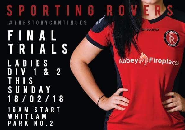 Final Ladies Trials this Sunday Make your way down tohellip