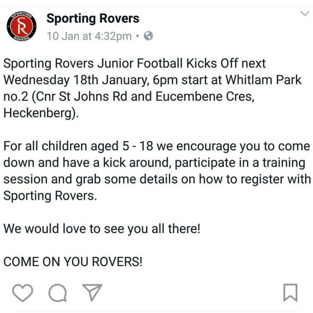 football sportingrovers roversnation grassrootsfootball southerndistricts